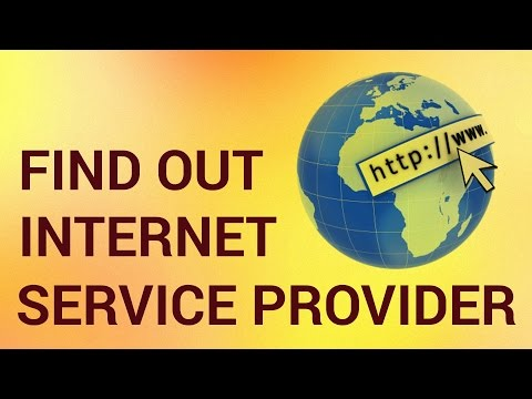 How do i find out my internet service provider