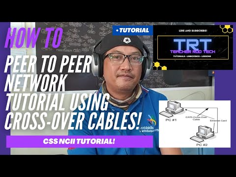 Peer to peer network tutorial using crossover cables (tagalog)