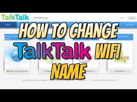 How to change your wifi name on talktalk router
