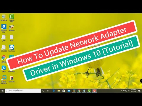 How to update network adapter driver in windows 10 [tutorial]