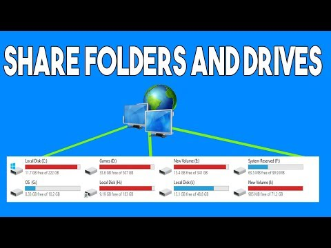 How to share files/folders/drives over a home wifi network | windows 10