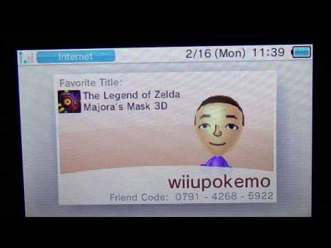 My new 3ds xl friend code and nintendo network id