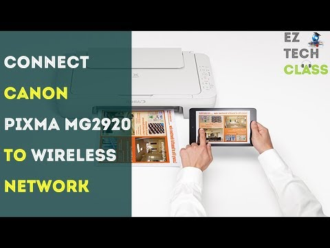 How to connect mg2920 printer to wireless network   ez tech class