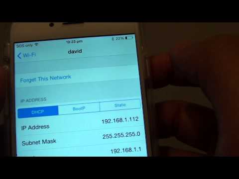 Iphone 6: how to find ip address wi-fi network settings