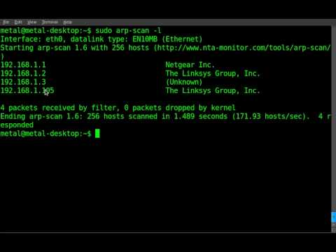 Find all local ips and mac address with arp-scan