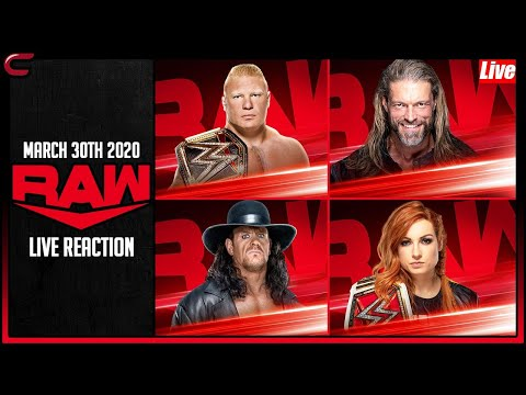 Wwe raw march 30th 2020 live stream: live reaction conman167