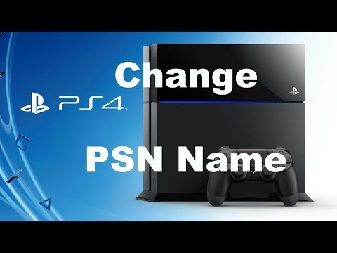 How to change your psn name on ps4