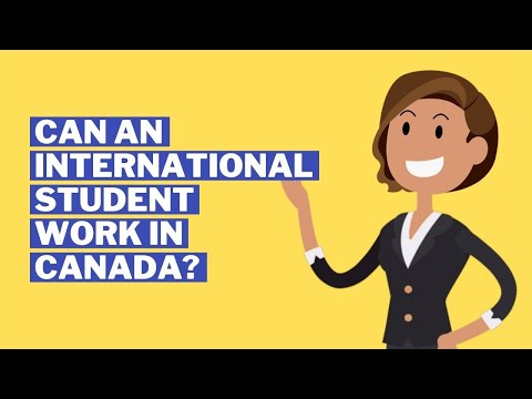 Can an international student work in canada ? how many hours can they work?