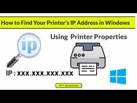 How to find your printer's ip address in windows 10