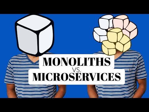 What is a microservice architecture and it's advantages?