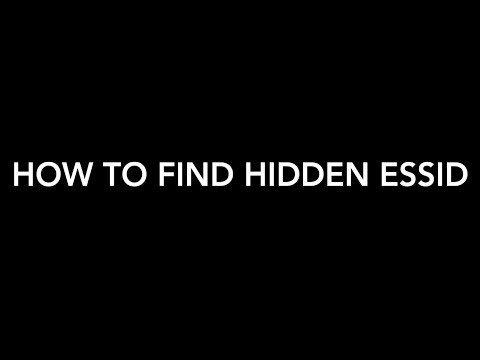 How to find hidden wi-fi name (essid)