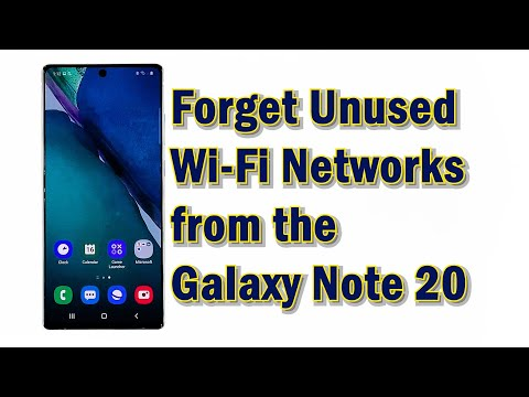 How to delete unused wifi network galaxy note 20
