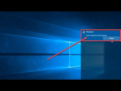How to fix can't connect to this network windows 10