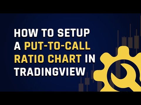 How to setup a put-to-call ratio chart in tradingview