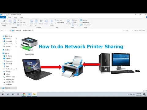 How to share printer on network (share printer in-between computers) easy