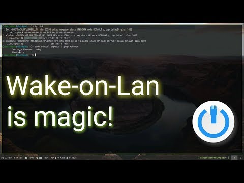 Turn your computer on from the network! - configuring wake-on-lan on arch linux
