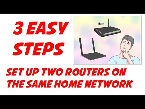 Set up two routers on the same home network