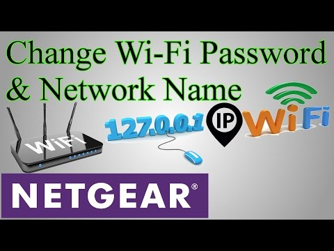 How to change wi-fi password & change network name (netgear router)