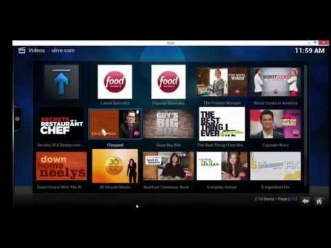 Watch hgtv, food network, and travel channel on xbmc kodi - ulive