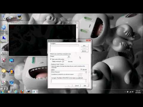 How to shutdown other computers on a lan network