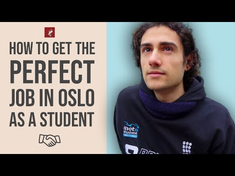 How to get work in oslo, norway, as a foreign student