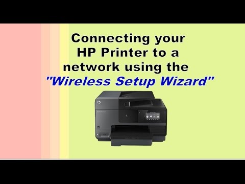 """Connecting printer to a network using """"wireless setup wizard"""""""
