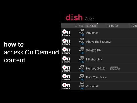 Watch on demand content & pay-per-view events