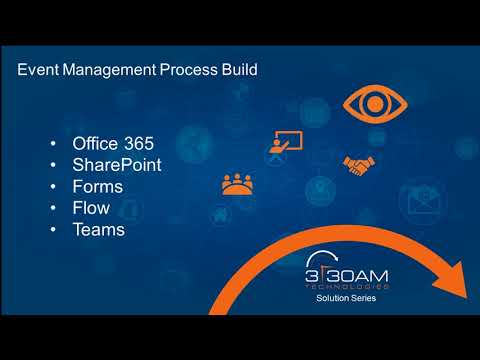 Event management process build - office 365 - sharepoint - forms - flow - teams