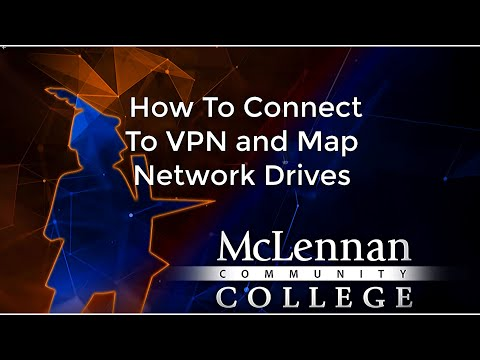 How to connect to vpn and map network drives