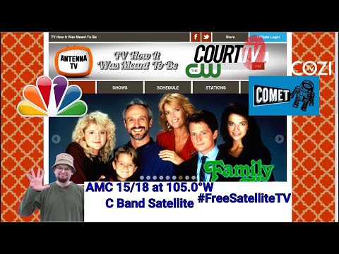 Satellite tv channels on fta free to air - 105 west - antenna tv - court tv - comet tv - cw - cozi