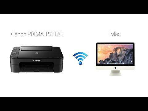 Setting up your wireless canon pixma ts3120- easy wireless connect with a mac