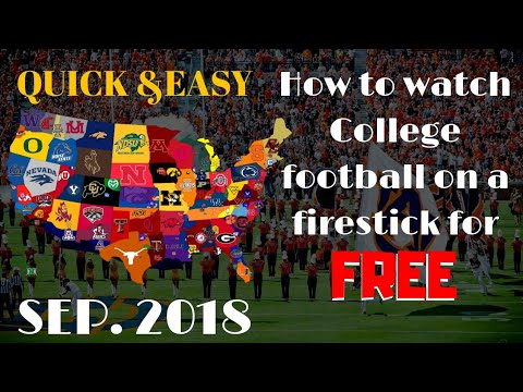How to watch live hd college football on a firestick 2018 (working)