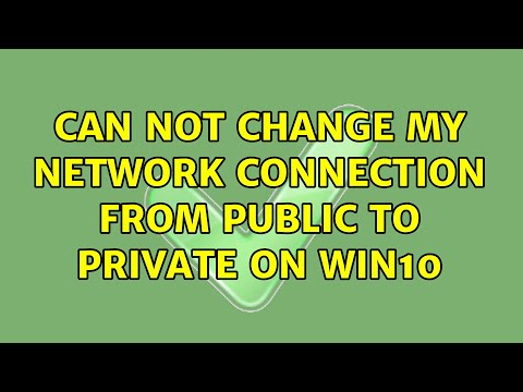 Can not change my network connection from public to private on win10