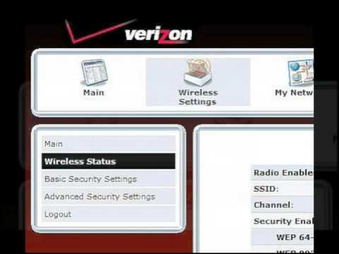 How to change your wireless network name and password on your verizon fios router
