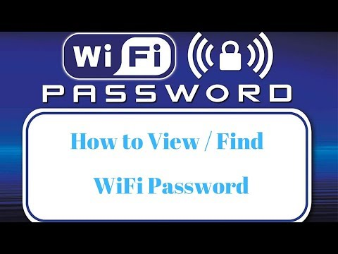 How to view saved wifi password in windows 10
