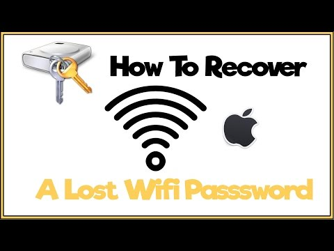 How to recover a forgotten wifi password on mac