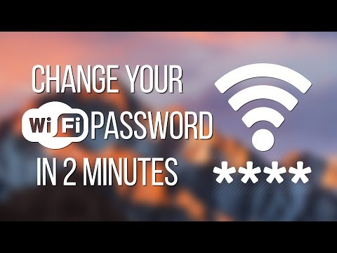 How to change your wifi name & password on mac os