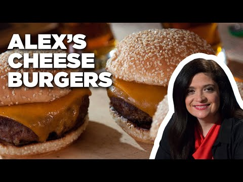 How to make cheese burgers with alex guarnaschelli | alex's day off | food network